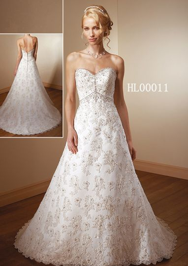 Allover Lace wedding gown