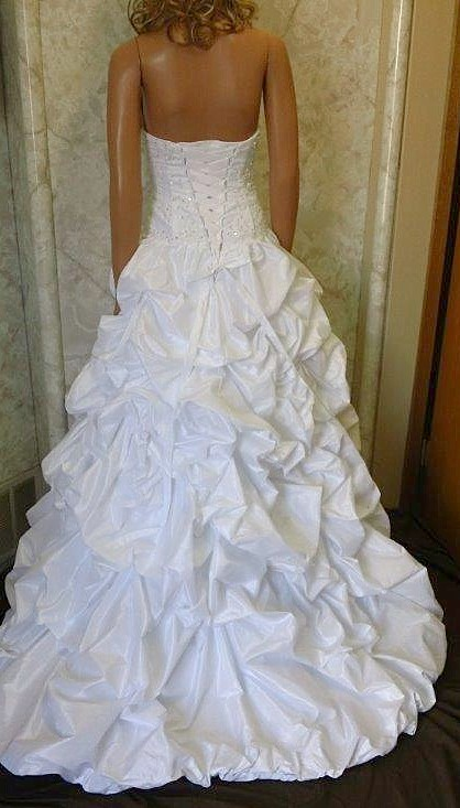 Satin Halter Wedding Gown with Chapel Train