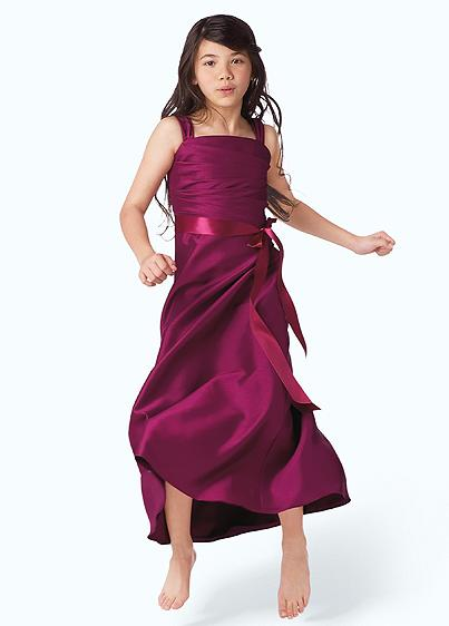 tea length junior bridesmaid dress