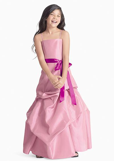 long pink junior bridesmaid dresses