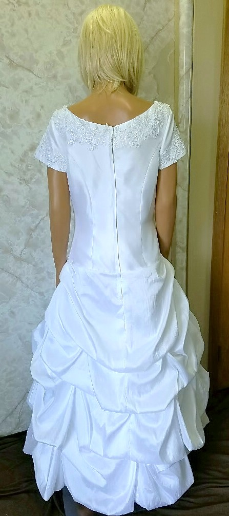 white pickup bridesmaid dresses