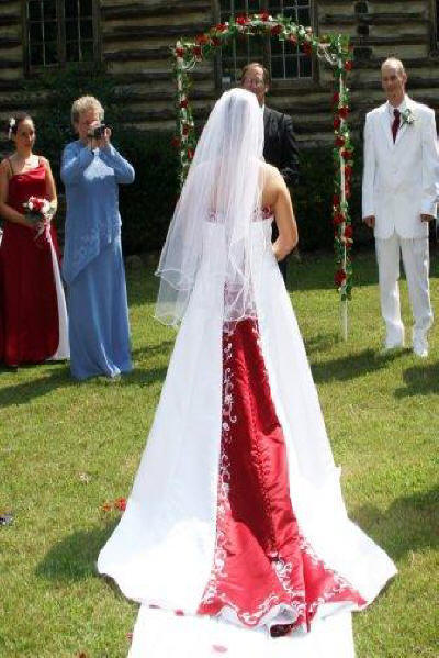 matching bridal gown with color