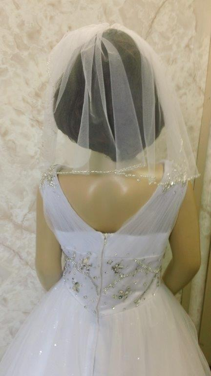 optional shoulder length veil
