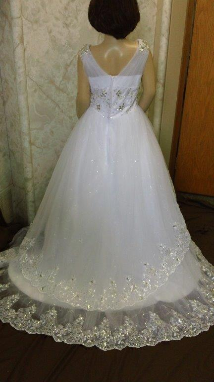 flower girl dress with train