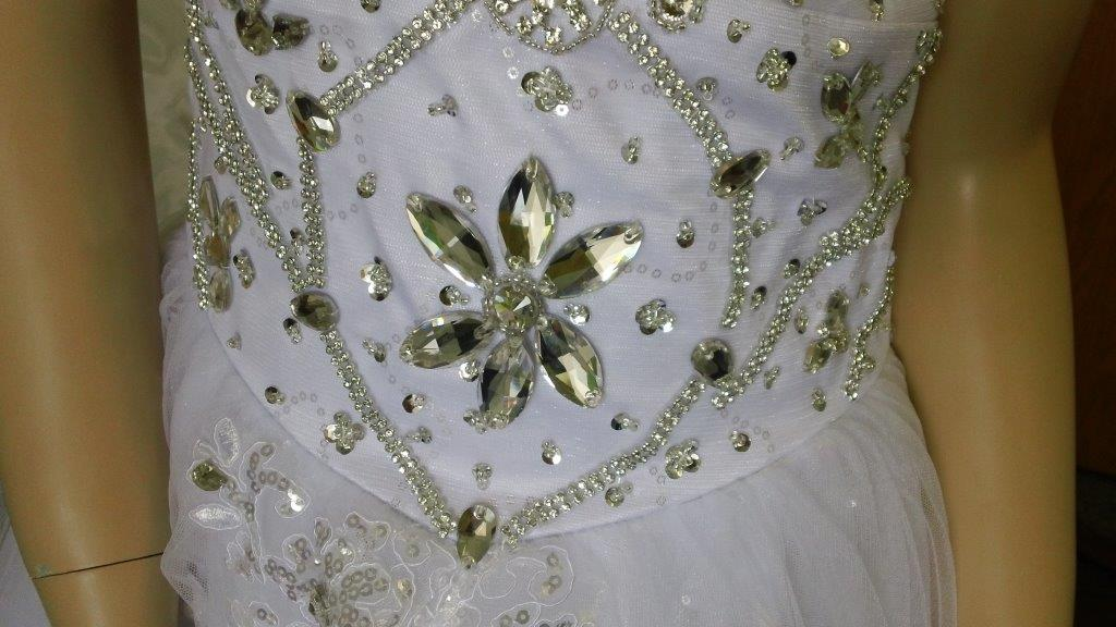 Heavily Crystal Beaded wedding dress