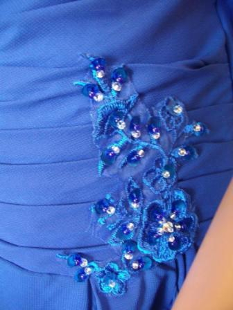 Chiffon royal blue mother of the bride dresses