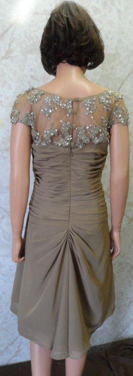 mocha mother of the bride dress