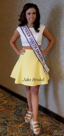 Miss Teen South Dakota crop top and skirt set