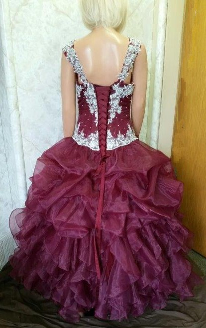 organza pick-up ball gown
