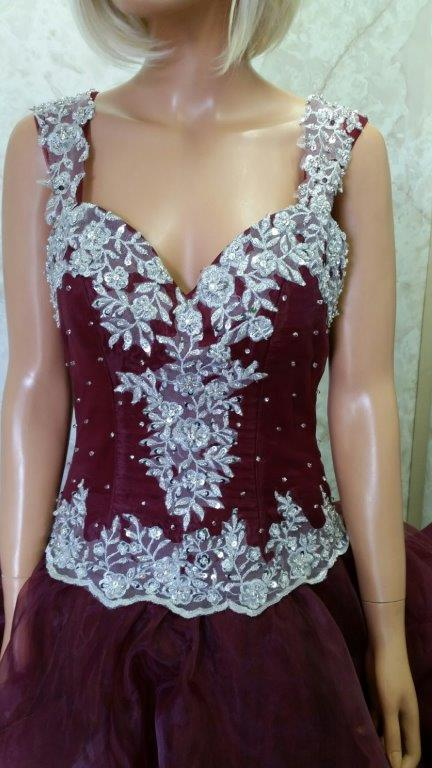 lace trim prom dress 2016