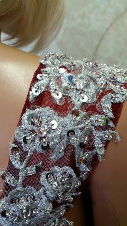 lace applique shoulder strap