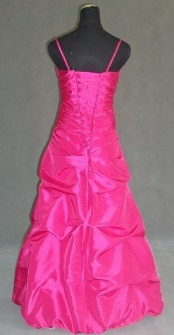 hot pink taffeta dress