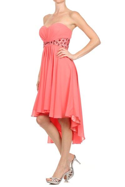 cheap coral bridesmaid dresses