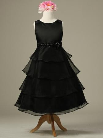 black casual pageant dress