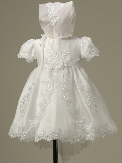 Christening Baptism Dress with Train