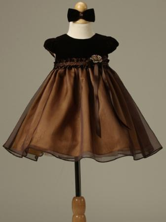 chocolate brown velvet baby girls christmas dresses