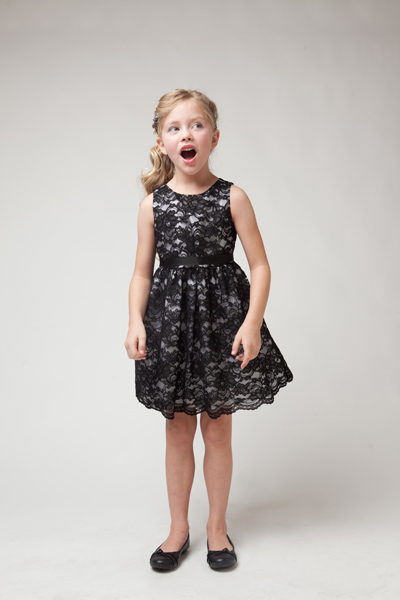 black lace flower girl dresses