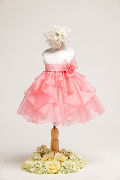 coral baby girls dress