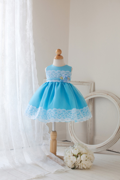 turquoise baby dress