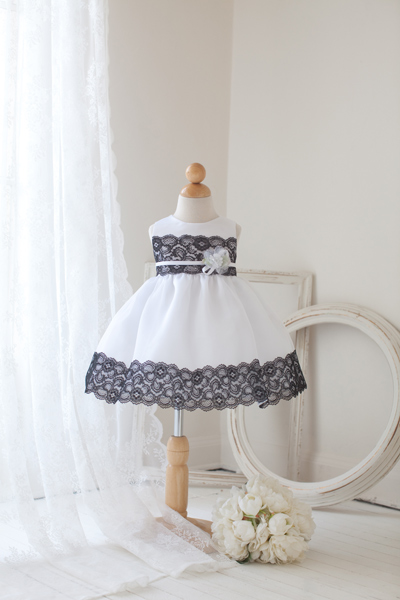 white and black baby easter dresses