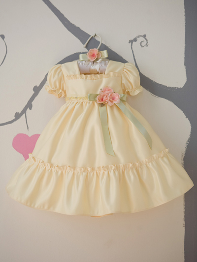 yellow baby ruffled dress