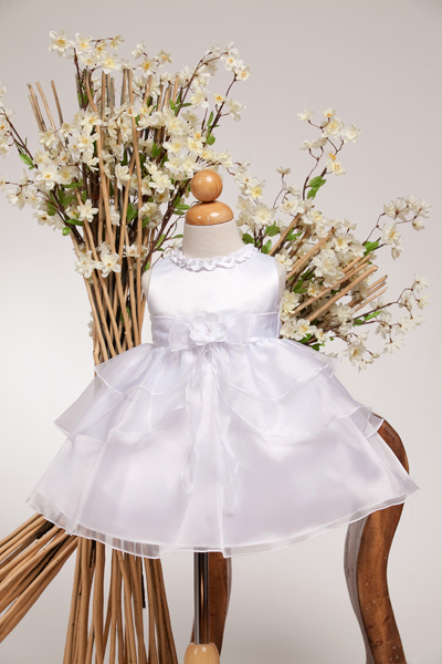 White formal dresses baby girls