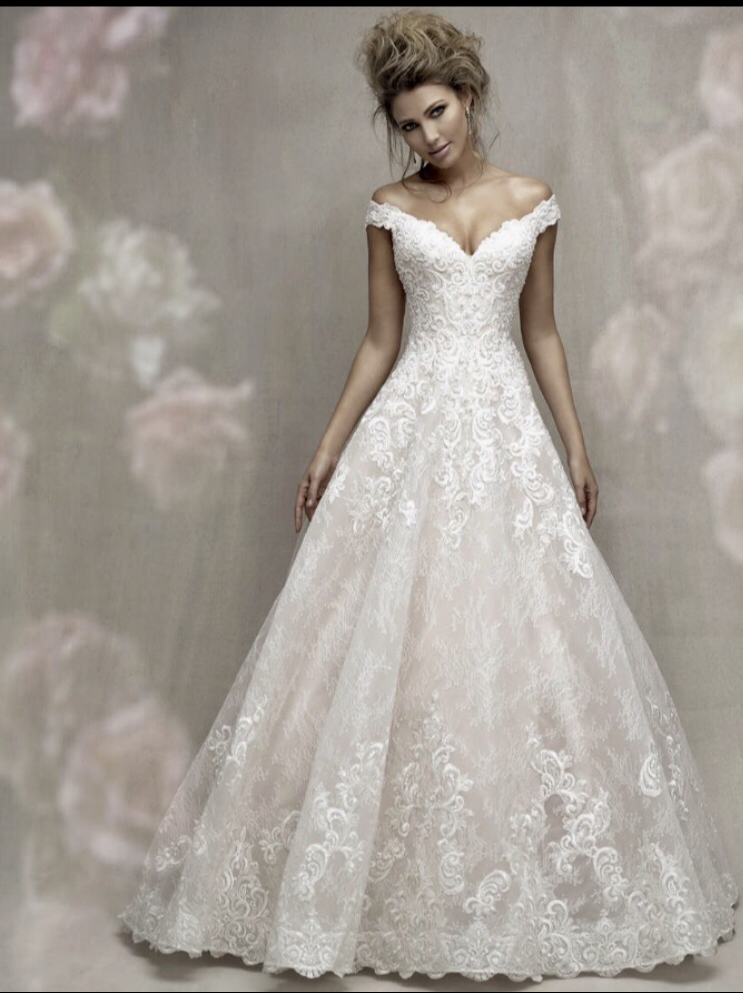 match this wedding dress