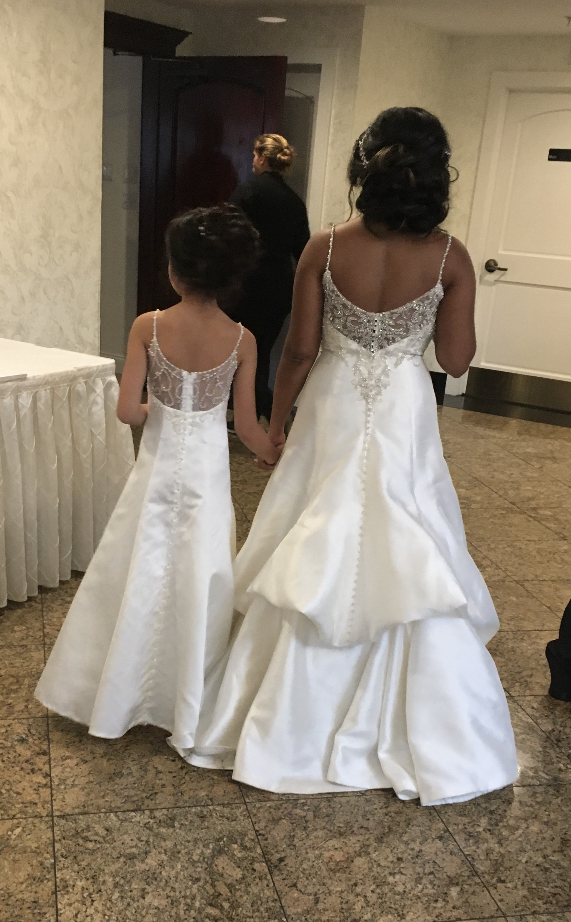 I would love for my daughter to have a matching flower girl dress. I have the Kimberly dress by Maggie Sottero.