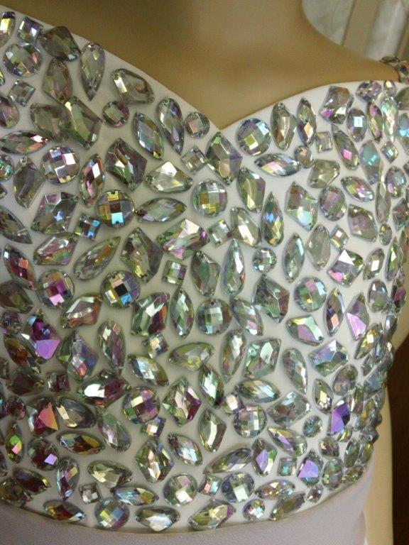 crystal beaded bodice
