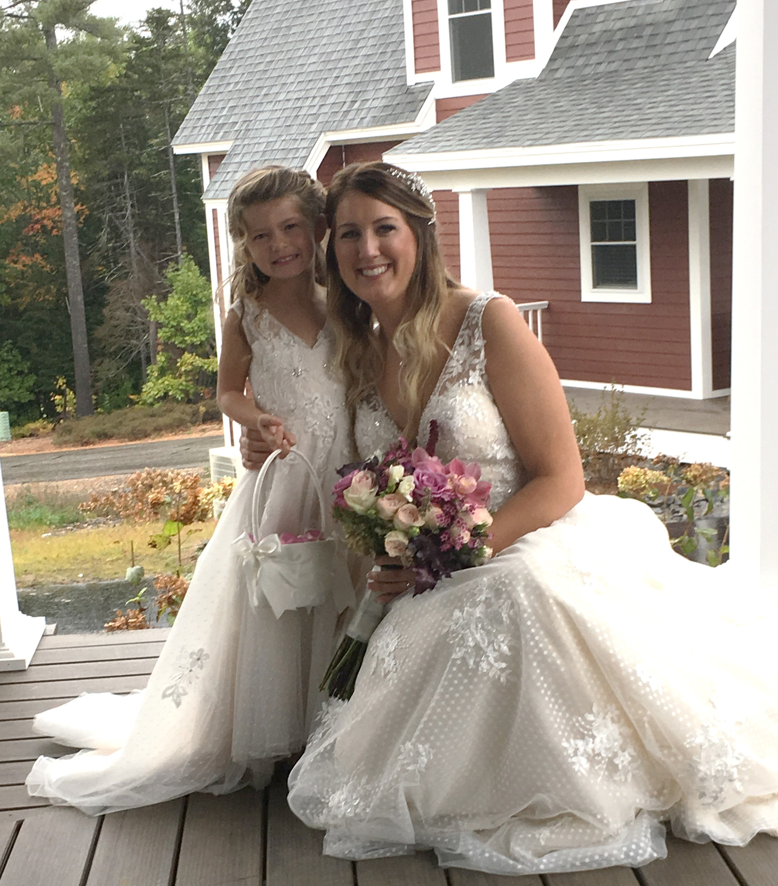 design a flower girl dress to match your wedding dress