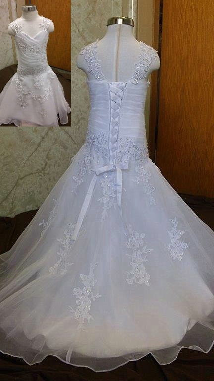 Child size 4 miniature wedding gown