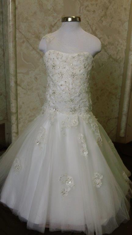 One shoulder wedding dress for flower girls