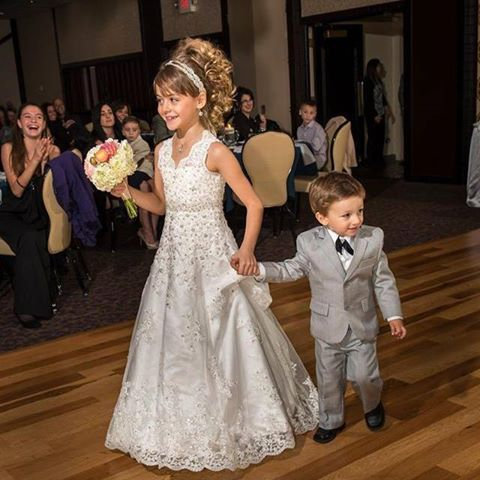 miniature bridal style flower girl dresses