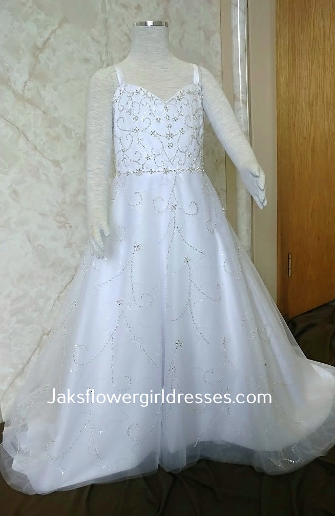 Flower girls fairy tale wedding dress