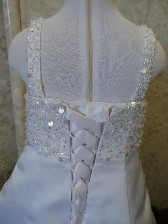 sequin miniature bridal gown