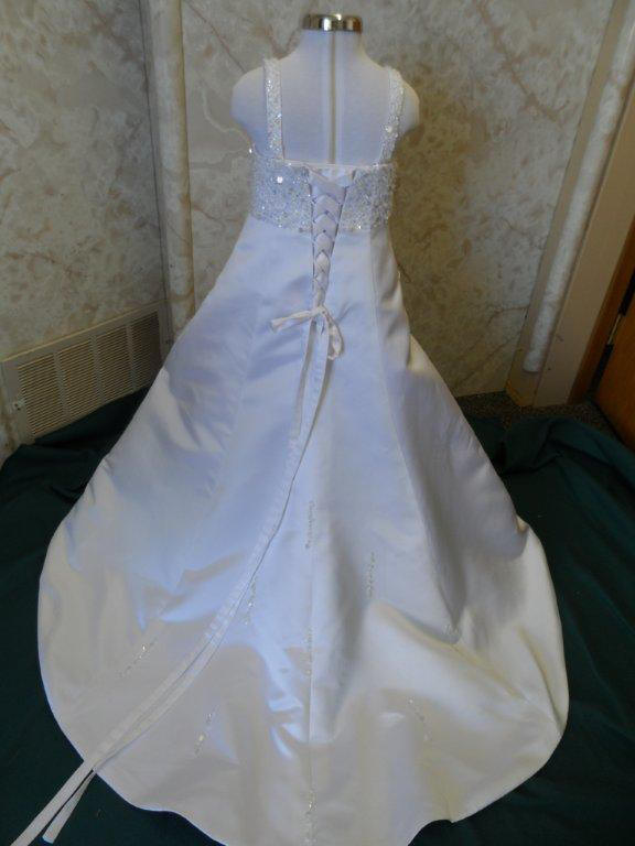 flower girl bridal gown with corset ties