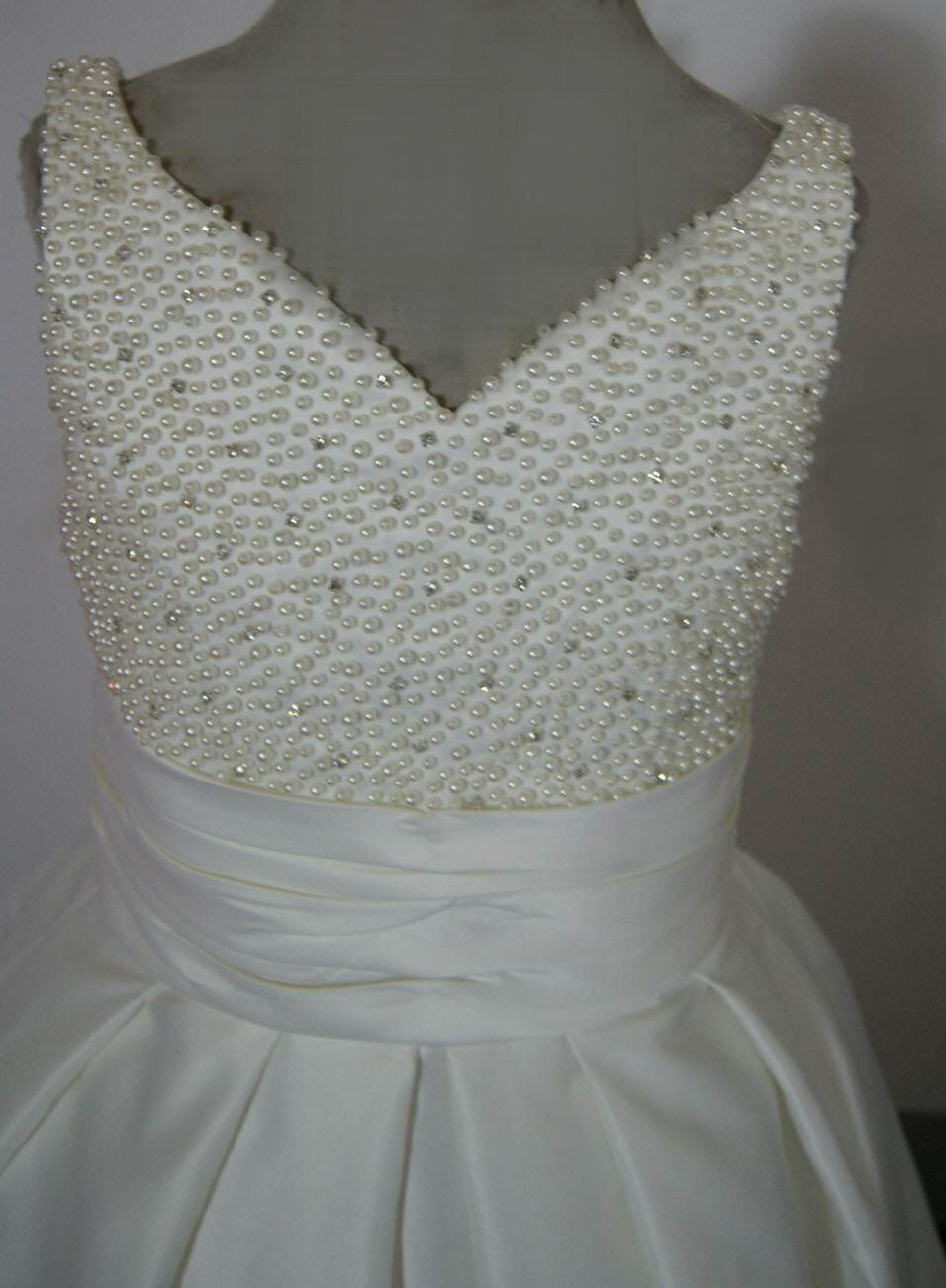 beaded sweetheat flower girl dress