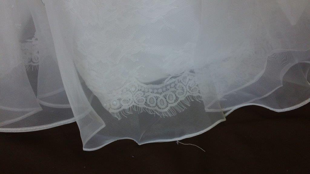 organza over lace
