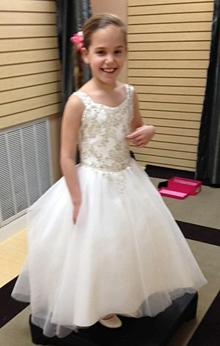 flower girl dress with embroidery