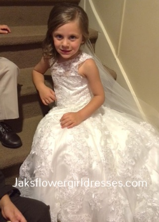 matching flower girl and bride dresses