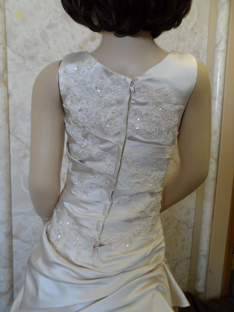 custom made to match the brides wedding gown
