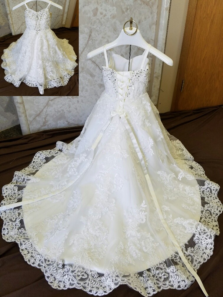 child size 2 flower girl dress with train