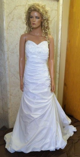 Satin strapless sweetheart bridal gown
