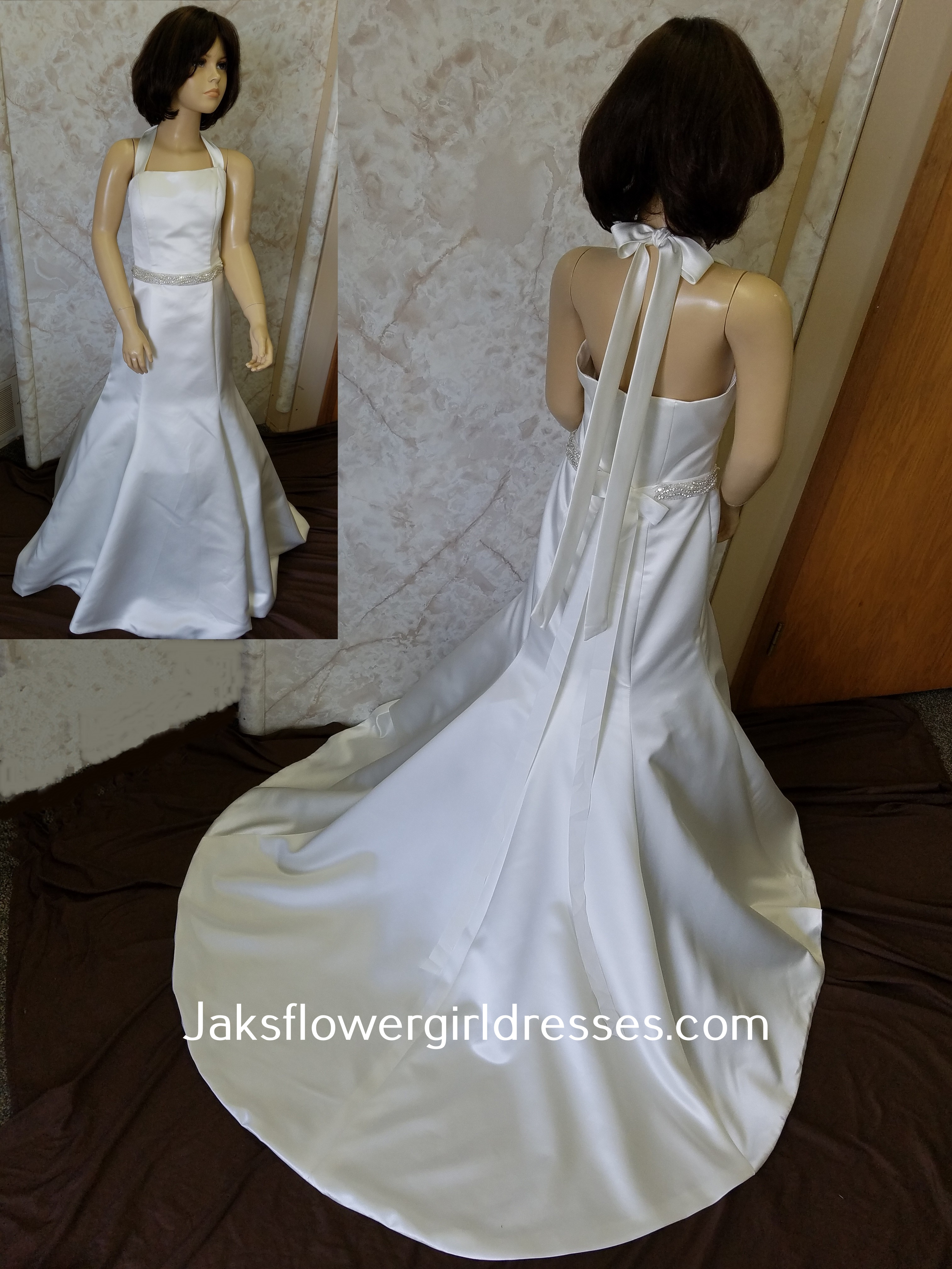 miniature bride trumpet gown