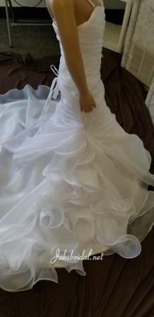 fit and flare flower girl dress with ruffle train