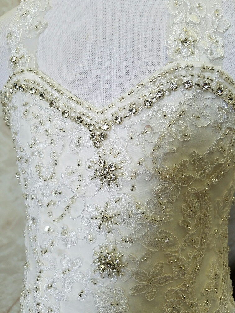 eloquently beaded sweetheart bodice