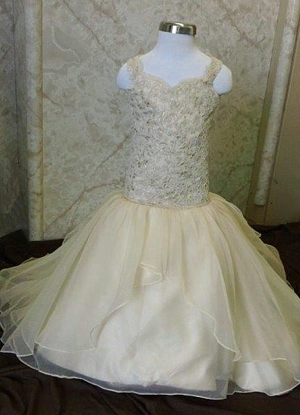 fit and flare flower girl dress