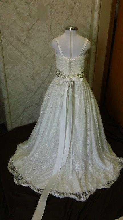 12 month flower girl dress with train