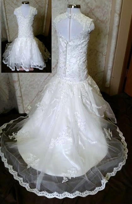 Jr wedding dress with train