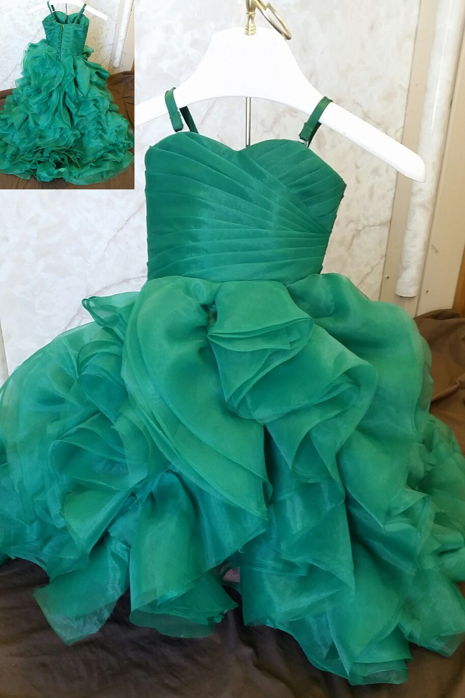 infant green wedding dress